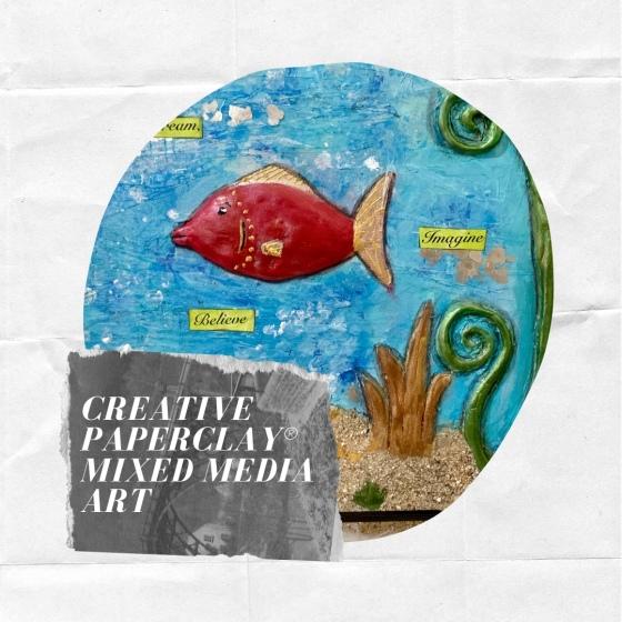 mixed media fish