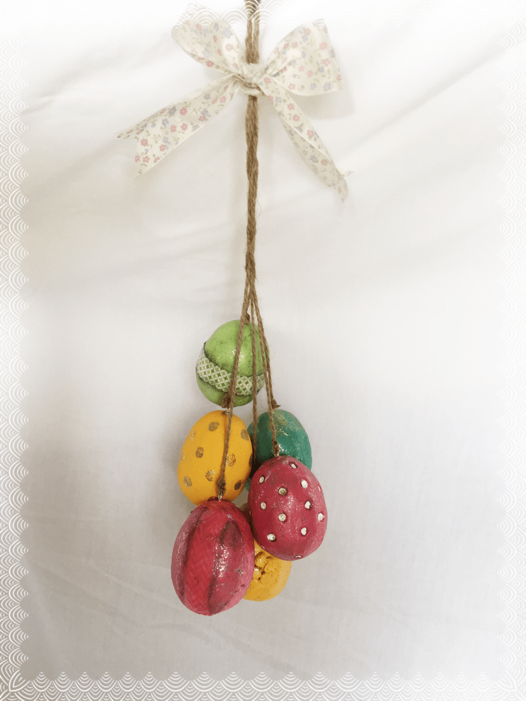 Creative Paper Clay® Easter Egg Swag