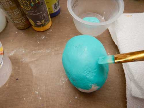 Painted Creative Paper Clay® Easter Eggs