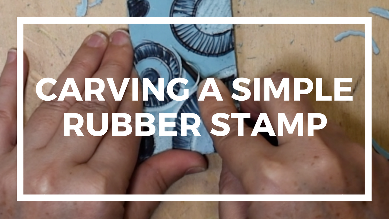 carving a simple rubber stamp